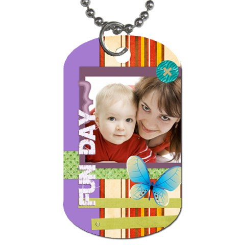 Fly Day By Joely   Dog Tag (one Side)   T7a7n54pp6bv   Www Artscow Com Front