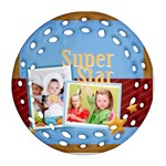 super star - Round Filigree Ornament (Two Sides)