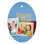 super star - Oval Ornament (Two Sides)