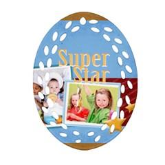 Super Star By Mac Book   Oval Filigree Ornament (two Sides)   U6s6xoq4di2i   Www Artscow Com Front