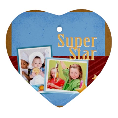 Super Star By Mac Book   Ornament (heart)   Yxme3ygi8qfy   Www Artscow Com Front