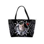 Black White Design Classic Shoulder Handbag
