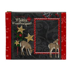 Winter Wonderland Extra Large Cosmetic Bag by Catvinnat Front