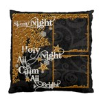 Silent Night Single Sided Pillow Case - Cushion Case (One Side)