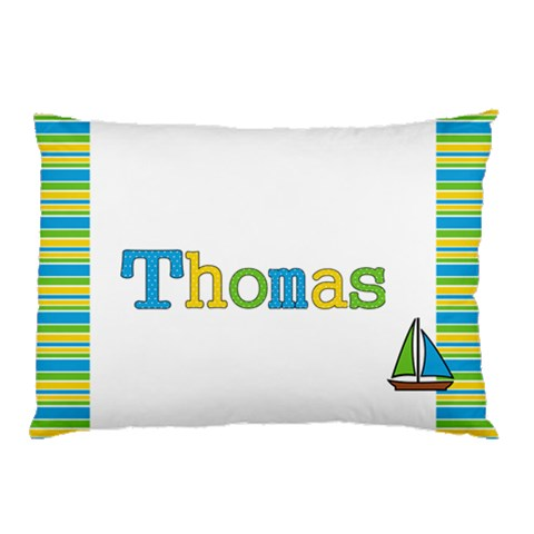 Boys Name Pillow Case   Thomas By Mum2 3boys   Pillow Case   Cogydm58soka   Www Artscow Com 26.62 x18.9  Pillow Case