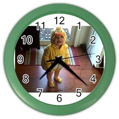 Baby Duckie Colored Wall Clock