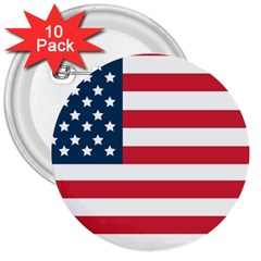 Flag 10 Pack Large Button (Round) by tammystotesandtreasures