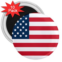 Flag 10 Pack Large Magnet (Round) by tammystotesandtreasures