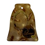 Love Gold Wedding Bell Ornament - Ornament (Bell)