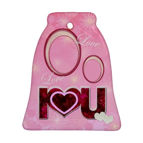 I Heart You Love Bell Ornament By Ellan   Ornament (bell)   6k2z8be27w60   Www Artscow Com Front