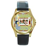 life is great - Round Gold Metal Watch