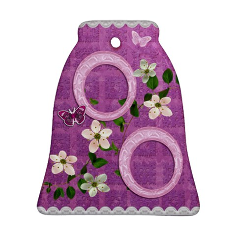 Spring Purple Love Bell Ornament By Ellan   Ornament (bell)   Wl3e7xag7ssu   Www Artscow Com Front