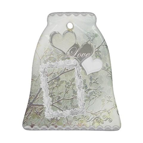 Spring White Wedding Love Bell Ornament By Ellan   Ornament (bell)   8h3f7przn6qa   Www Artscow Com Front