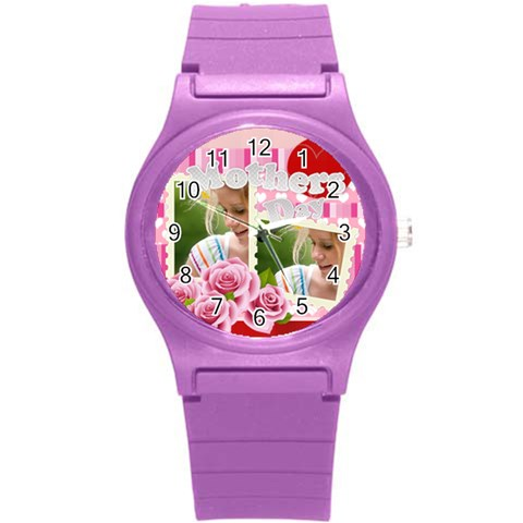 Mothers Day By Joely   Round Plastic Sport Watch (s)   C88m8lacvv1t   Www Artscow Com Front