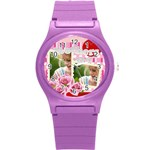 mothers day - Round Plastic Sport Watch (S)