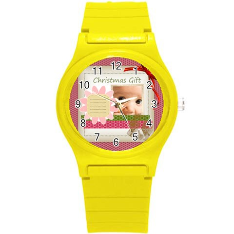 Xmas By Joely   Round Plastic Sport Watch (s)   9nfedpdaugb1   Www Artscow Com Front