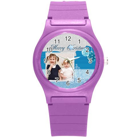 Christmas By Joely   Round Plastic Sport Watch (s)   Piec4halcqtr   Www Artscow Com Front