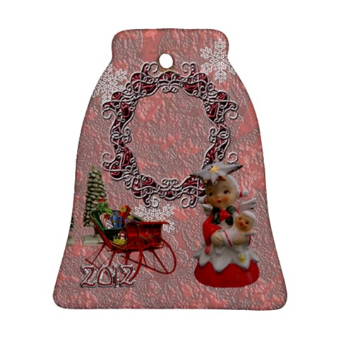 Vintage Christmas Sleigh Bell Ornament By Ellan   Ornament (bell)   Q4zb7lqarpp2   Www Artscow Com Front