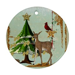 All Is Calm Double Sided Ornament By Catvinnat   Round Ornament (two Sides)   T9faguiajf6v   Www Artscow Com Back