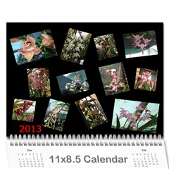 206  Noelas Orchid Calendars By Danielle Willis   Wall Calendar 11  X 8 5  (12 Months)   Mz0f9vbavpmj   Www Artscow Com Cover