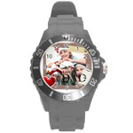 dad - Round Plastic Sport Watch (L)