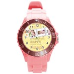 happy birthday - Round Plastic Sport Watch Large
