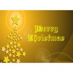 Gold Christmas card 3D - Circle 3D Greeting Card (7x5)