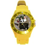 Time for a wine Round Plastic Sport Watch Large - Round Plastic Sport Watch (L)