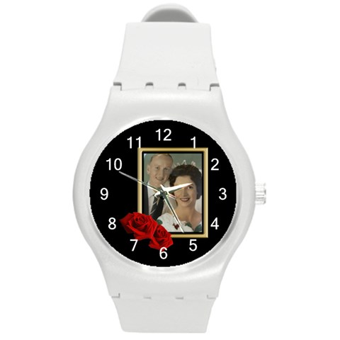 Our Celebration Round Plastic Sport Watch Medium By Deborah   Round Plastic Sport Watch (m)   Xvcxuertw83c   Www Artscow Com Front