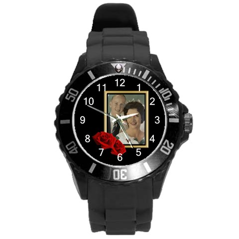 Our Celebration Round Plastic Sport Watch Large By Deborah Front