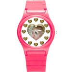 Heart Round Plastic Sport Watch Small - Round Plastic Sport Watch (S)