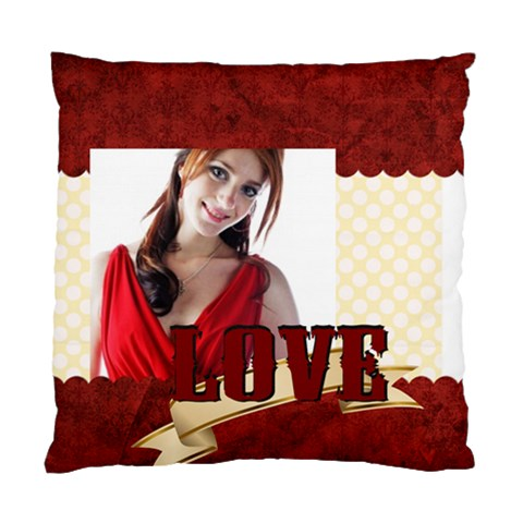 Love By Wood Johnson   Standard Cushion Case (one Side)   1hu7h6volpdz   Www Artscow Com Front