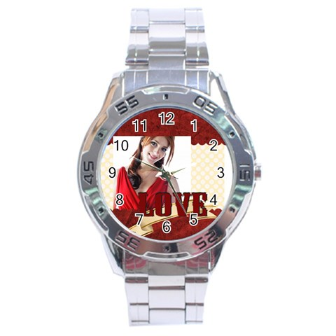 Love By Wood Johnson   Stainless Steel Analogue Watch   E6bg8fooxd2m   Www Artscow Com Front