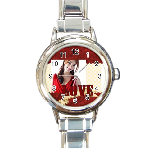 Love By Wood Johnson   Round Italian Charm Watch   Cmoter9ik3mu   Www Artscow Com Front