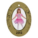 Gold Oval 2012 Ornament - Ornament (Oval)