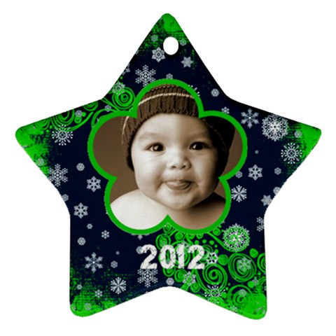 Scroll Upon A Star Snowflake 2012 Star Ornament By Catvinnat   Ornament (star)   Rr1fmf2e562u   Www Artscow Com Front