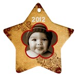 Scroll Upon a Star 2012 star ornament - Ornament (Star)