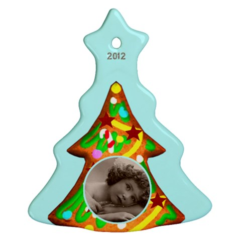 Gingerbread Cookie 2012 Tree Ornament By Catvinnat   Ornament (christmas Tree)    T6g4n69ppzc5   Www Artscow Com Front