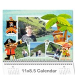 Pirate Pete 2015 Calendar - Wall Calendar 11  x 8.5  (12-Months)