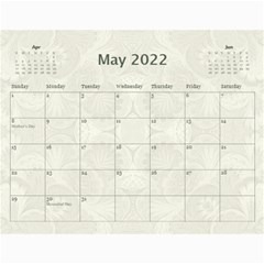 Damask Wedding 2019 Calendar  By Catvinnat   Wall Calendar 11  X 8 5  (12 Months)   5vvt54vvdo8m   Www Artscow Com May 2019
