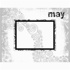 Faded Glory Monochrome 2015 Calendar By Catvinnat   Wall Calendar 11  X 8 5  (12 Months)   Dt0tua9e8fj0   Www Artscow Com Month