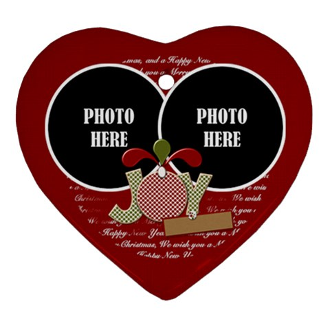 Christmas Clusters Heart Ornament 1 By Lisa Minor   Ornament (heart)   7hqunzvnmeq6   Www Artscow Com Front