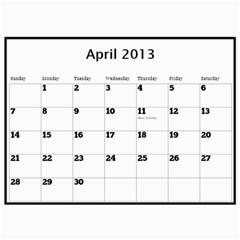 Pops Calendar By Deborah   Wall Calendar 11  X 8 5  (12 Months)   0hxzmfpncggs   Www Artscow Com Apr 2013