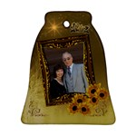 Gold Sunflower meg cliff Bell Ornament - Ornament (Bell)