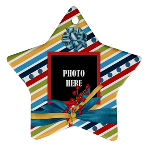 Rockin  Around The Christmas Tree Ornament By Lisa Minor   Ornament (star)   I4k5xz4q0z2z   Www Artscow Com Front