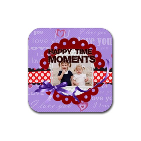 Happy Memonts By Joely   Rubber Coaster (square)   Xr5f6ahak8lj   Www Artscow Com Front