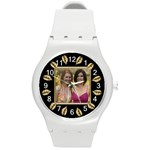 Gold Leaf Round Plastic Sport Watch Medium - Round Plastic Sport Watch (M)