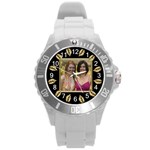 Gold Leaf Round Plastic Sport Watch Large
