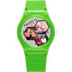 Family Round Plastic Sport Watch Small - Round Plastic Sport Watch (S)