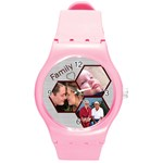 Family Round Plastic Sport Watch Medium - Round Plastic Sport Watch (M)